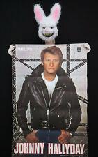 JOHNNY HALLYDAY - Rare affiche promotionnelle 1975- Poster 118 x 78 cm