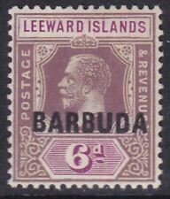 BARBUDA 1922 SG5  6d DULL & BRIGHT PURPLE MNH