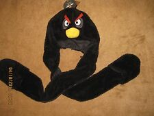 Angry Birds BLACK BIRD THE BOMB Snood Hood Hat Beanie Adult One Size Fits Most