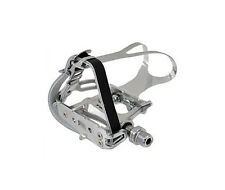 Token Track / Road Pedals with Toe Clips & Straps - TK458