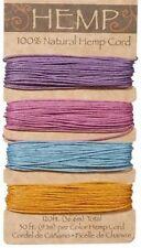 Pastel Colors 100% Natural  20lb Hemp Cord Set 120ft