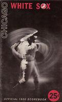 1966 baseball program, Chicago White Sox vs. Cleveland Indians, unscored