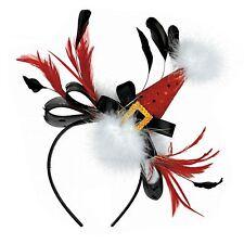 Noël déguisement BOPPER Noël Festif Rouge Bonnet Père Noël plumes Bandeau