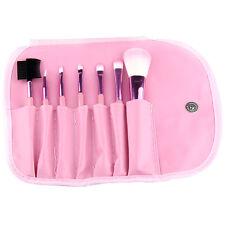 Pro 7Pcs Pinceaux Maquillage Poudre Fond Teint Fard Paupières Brosse Trousse NF