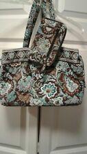Vera Bradley Java Blue Bag Purse And Wallet Wristlet Blues Brown  EUC