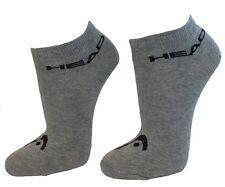9 Paar SPARPACK Unisex HEAD Sneaker Socken Füßlinge - Invisible Set: Grau