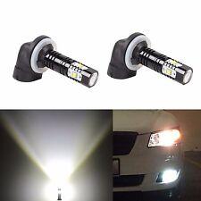 JDM ASTAR 2x 30W 881 889 Super Bright 6000K White 12V LED Fog Lights Bulbs Lamps