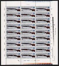 DDR MiNr. 2377,2379+2381 (Jagdwaffen) kpl. Zusammendruckbogen postfrisch