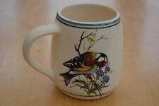 More details for brixham pottery mug - goldfinch crested tit & chaffinch - birds