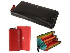 Visconti Ladies Large Zip Around RFID Blocking Soft Leather Purse Wallet - SP79