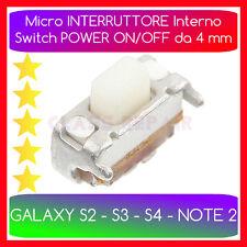POWER ON/OFF da 4mm Pulsante Interno Accensione x SAMSUNG GALAXY S2 S3 S4 NOTE 2