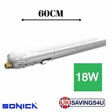 LED Batten Tri-Proof Light Fitting Replacement T8 Fluorescent IP66 | 2FT (60CM)