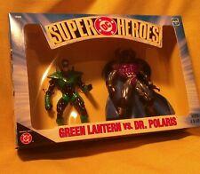 Green Lantern / Dr. Polaris Super Friends action figures NOS 1999 DC Direct