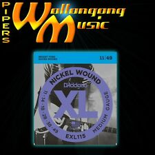 D'Addario  EXL115 11-49 Blues Jazz Medium Gauge Electric Guitar Strings Set