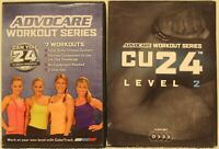 2 Advocare Workout Series DVD lot  Cu24 Level 1 and 2