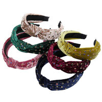 Fashion Velvet Knotted Crystal Headband Women Ladies Hair Band Hair Accessories