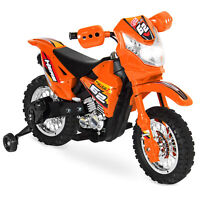 BCP 6V Kids Electric Ride-On Motorcycle Toy w/ Training Wheels, Lights, Music
