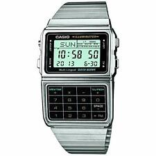 Casio DBC611-1 Men's Vintage Metal Band 25 Memory Data Bank Calculator Watch