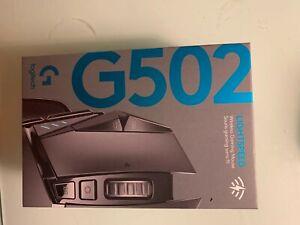 New Logitech G502 Lightspeed Wireless Gaming Mouse Box.