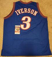 Allen Iverson Signed Philadelphia 76ers Custom Jersey JSA-W COA