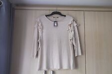 BNWT SIZE  22 FRILLED SHOULDER  TOP BY   MARKS & SPENCER  COLLECTION