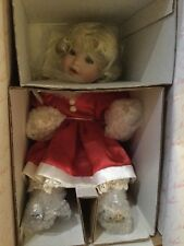 """1999 Marie Osmond """"Santa Baby"""" Toddler Series Porcelain Collector Doll LE"""