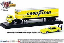 M2 MACHINES 1:64 AUTO-HAULERS Release 19-B 1969 Dodge L600 & Charger Daytona Set