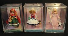 Hallmark - Madame Alexander Merry Miniatures 3 Doll Lot - New in Plastic Case