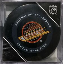(Just Out) 2019-2020 Vancouver Canucks (Vintage Skate) Official Game Puck