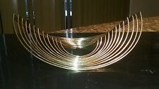 LARGE BEATING HEART YAACOV AGAM STYLE JERE BERTOIA EAMES GOLD SCULPTURE