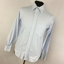 Missoni 15 33 Dress Shirt Blue Button Down Front Men's Long Sleeve Classic D1