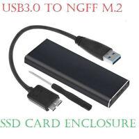 M.2 NGFF SSD SATA TO USB 3.0 External Enclosure Storage Case Aluminium Adapter-