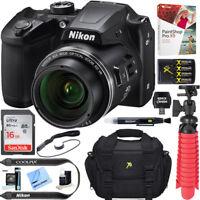 Nikon COOLPIX B500 16MP 40x Zoom Wi-Fi Digital Camera (Black) 16GB 12 Pcs Bundle