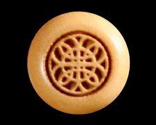 Bridge Pins for Guitar, Boxwood, Engraved Celtic Rosette