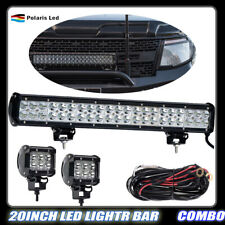 20inch 126W LED Light bar combo beam with wiring kit / harness Fit SUV Off-road