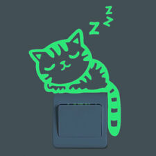 Cute Luminous Switch Sticker Removable Glow In The Dark Wall Decal Home Decor