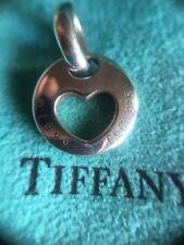 Tiffany & Co 1999 Sterling Silver Stencil heart Pendant