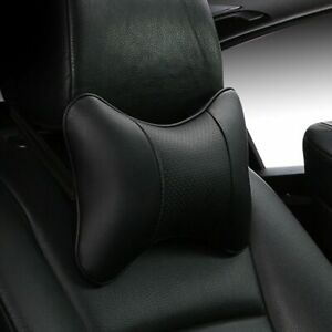 2 Pack Car Neck Pillows Pu Leather head protector universal headrest cushion