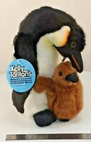 "Antics King Penguin with Baby Chick Plush Toy (22cm / 8.5"" tall) Kelly Tarlton"