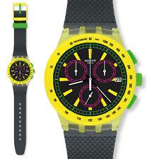 swatch chrono plastic crono ye lol orologio cronografo uomo unisex da collezione