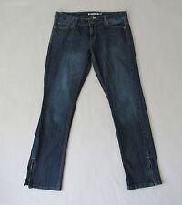 Aeropostale Jeans Size 13/14 Kieley Ultra Skinny Blue Ankle Zippers 34W x 31L