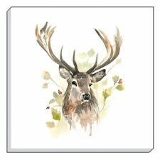 EVANS LICHFIELD COUNTRY HIGHLAND STAG DEER BROWN WHITE CANVAS PICTURE 40CM - 16""