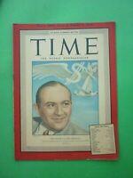 Original Time Magazine October 7, 1946 Financier Victor Emanuel