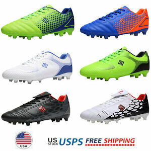 Mens Boys Soccer Shoes Outdoor Football Shoes Firm Ground Soccer Cleats