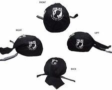 POWMIA POW MIA Emblem Not Forgotten Black Do Rag Doo Rag Skull Cap Head Wrap
