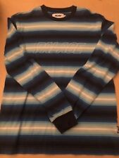 3e0d28d8fe PALACE SKATEBOARDS FW16 BLUE FADER STRIPE LONG SLEEVE LS TEE sz Small TRI  FERG