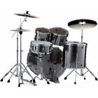 Batterie Pearl Export Rock 22'' Smockey Chrome avec cymbales