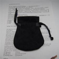 100pcs a lot Handmade Black Velvet Pouch Bag For European Style Charm Bead