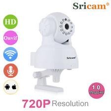 Sricam IP Cám 720P Wi-Fi Wireless PT Vision Nocturna Vigilancia Motion Detection