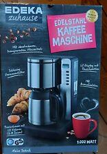 Edelstahl Kaffeemaschine Edeka mit  Thermoskanne ,Timer